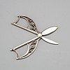 A swedish 20th century silver pair of grape scissors, mark of jorgen jensen, stockholm 1928