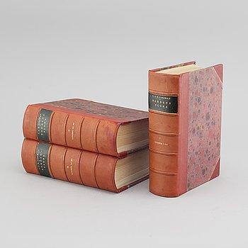 "Three books, ""Bilder ur nordens flora"", by C A Lindman, published by Wahlström & Widstrand, Stockholm, 1922-26."