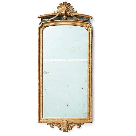 A swedish transition mirror by joseph schürer, dated 1771.