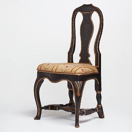 Stol, svensk rokoko, 1700 talets andra hälft