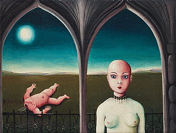BERT JOHNNY NILSSON, oil on canvas/panel/signed.