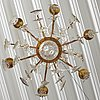 A rococo-style late 19th century six-light chandelier.