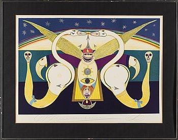 FRIEDRICH SCHRÖDER-SONNENSTERN, lithograph in colours, signed 145/275.