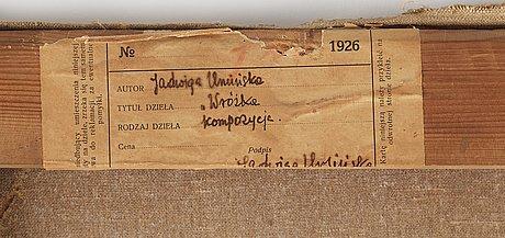 Jadwiga uminska, the cardplayer.