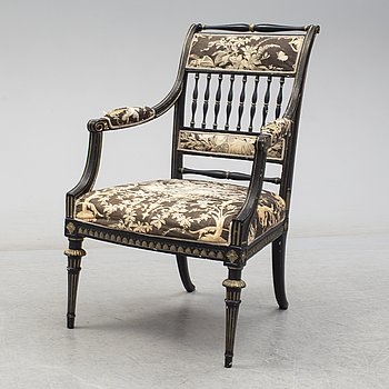 A late gustavian armchair, Stockholm, ca 1800.