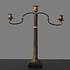 A late gustavian circa 1800 three-light candelabra.