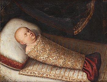 35. UNKNOWN ARTIST, 17th Century. A dead child.