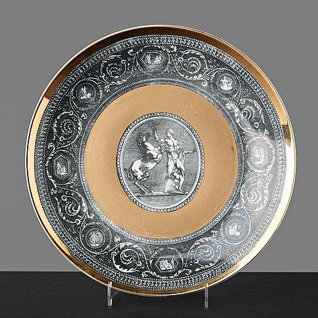 "Piero fornasetti, a set of six ""cammei"" porcelain plates, milano, italy."