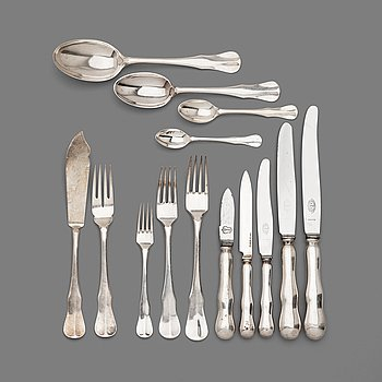 13. A Swedish 206 pieces of silver table cutlery, makers mark GAB, Stockholm 1920's/1930's.