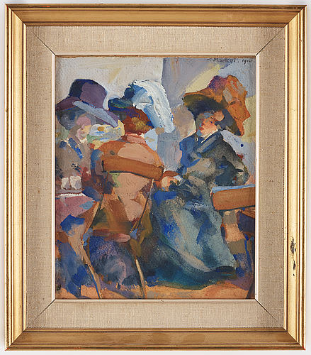 Unknown artist, around 1920, watercolour, signed