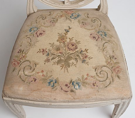 A gustavian chair attributed to jacob malmsten (master in stockholm 1780-1788).