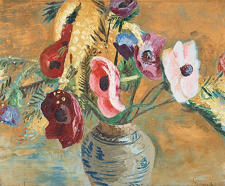 Isaac grünewald, flower still life.