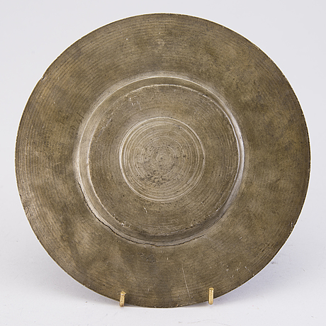 Plate, pewter, germany, nürnburg early 17th century