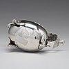 A swedish 18th century parcel-gilt silver cream-jug, mark of pehr zethelius, stockholm 1782.