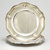 A pair of french 19th century silver dishes, one marked emil puiforcat, paris. louis xv style