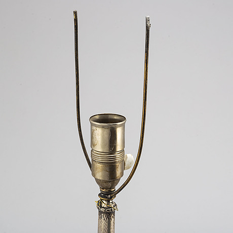 A swedish early 20th century silver lamp, mark of k andersson, stockholm 1919