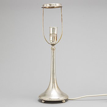 A Swedish early 20th century silver lamp, mark of K Andersson, Stockholm 1924.