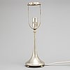 A swedish early 20th century silver lamp, mark of k andersson, stockholm 1924