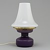 Hans-agne jakobsson, a second half of the 20th century glass and brass table lamp, model b 124.