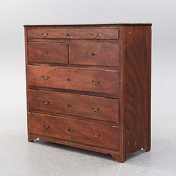 A painted pine chest of drawers from Västerbotten, 19th Century.