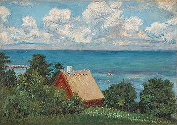 PAUL FISCHER, olja på duk, signerad Paul Fischer och daterad 1909.