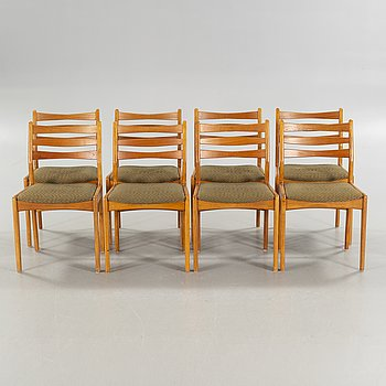 Eight 1950s chairs.