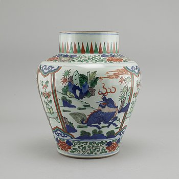 A 20th century, Chinese porcelain vase.