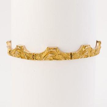 """BJÖRN WECKSTRÖM,  ARMBAND """"Golden Bridge"""", 14K guld, Lapponia 1977."""