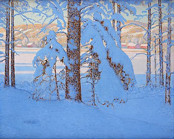 507. Bror Lindh, Winter landscape from the province of Värmland in Sweden.