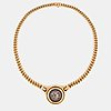 """A bulgari """"monete"""" necklace in 18k gold and with roman coins."""