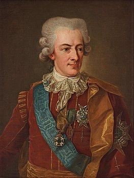 """517. Per Krafft d.ä., """"King Gustav III"""" (1746-1792)."""