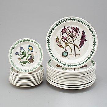 24 'Botanic Garden' porcelain plates from Portmeirion, England.