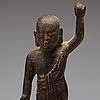 A bronze figure of buddha, ming dynasty (1368-1644).