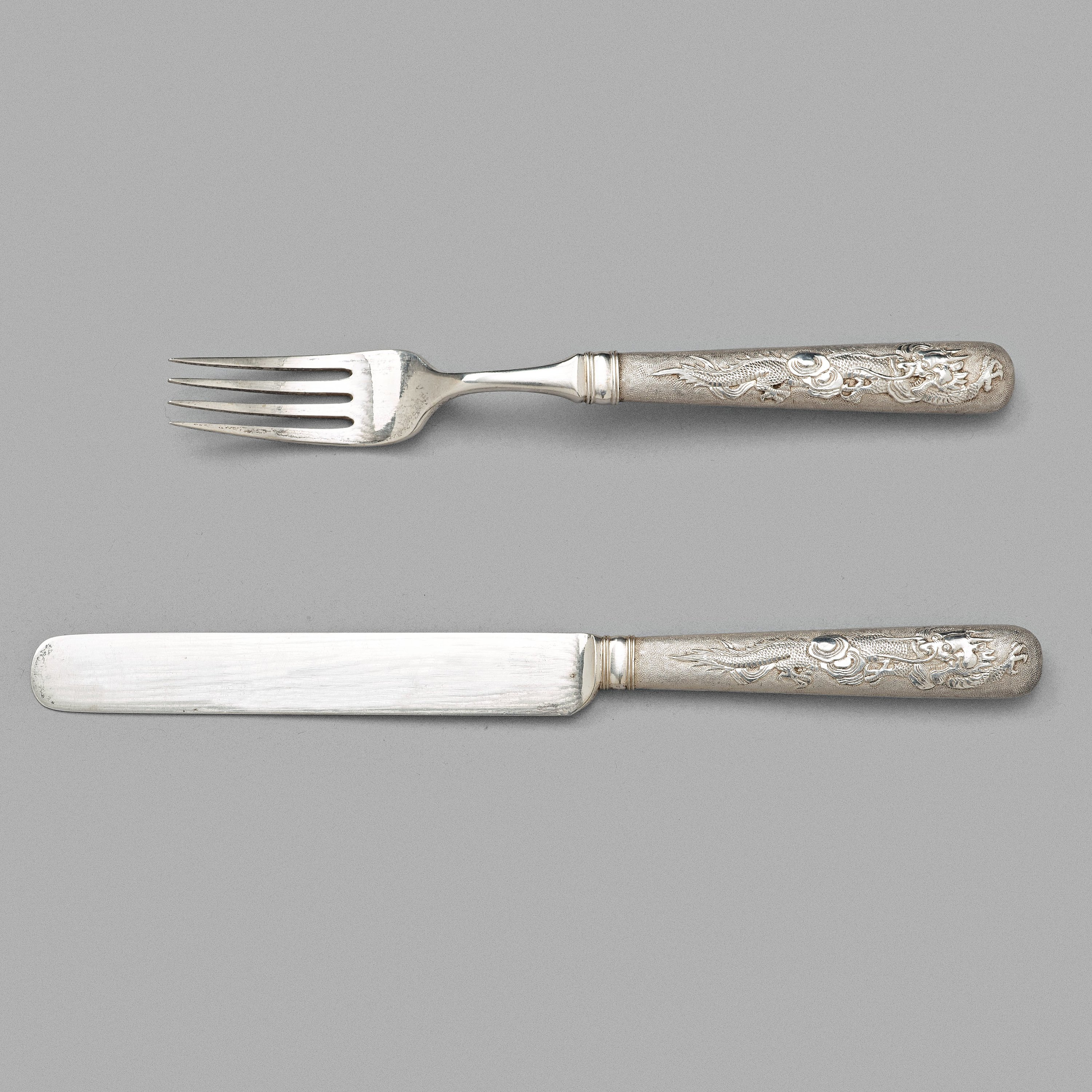 A Chinese Silver Cutlery Set Shanghai Zee Wo Early 20th