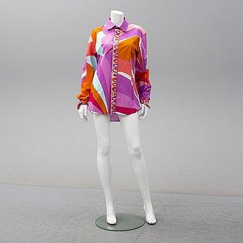 EMILIO PUCCI, a printed cotton shirt, size XL.