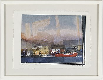 LARS LERIN, watercolor signed Lars Lerin and dated Aug -93.