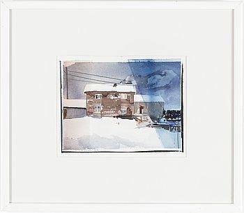 LARS LERIN, akvarell signerad Lars Lerin daterad 94.