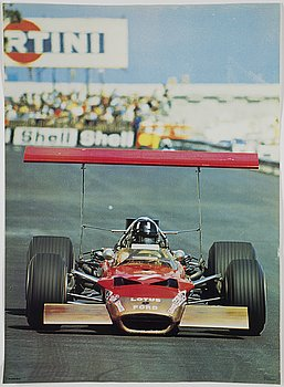 A pair of Formula 1 racing posters Foto Bo Eriksson, Art Work Shop, early 1970's.