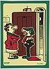 Five 'tuffa viktor' posters from bull's presstjänst, art work shop, 1960's.