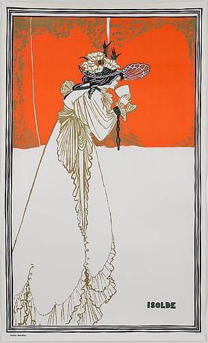 Aubrey beardsley, after. poster, 1970's.