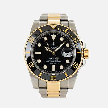 ROLEX, Oyster Perpetual Date, Submariner (1000ft = 300 m), Chronometer, armbandsur, 40 mm.