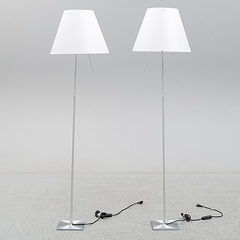 A pair of 'Costanza D13' floor light by Paolo Rizzatto for Luceplan, late 20th century.