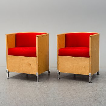 A pair of easy chairs by Mats Theselius, Källemo.