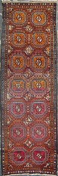 GALLERIMATTA, orientalisk. Ca 379x121 cm.