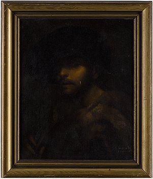 REMBRANDT HARMENSZ VAN RIJN, after, oil on canvas, 19/20th century.