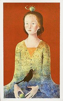 DORINA MOCAN, litografi, signerad, numrerad 185/270.