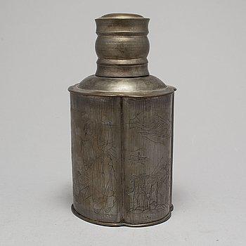 TEDOSA med LOCK, tenn. Qingdynastin, 1800-tal.