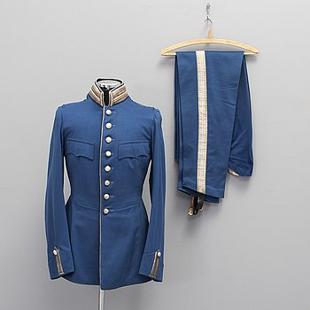 A Swedish cavalry officer's uniform.