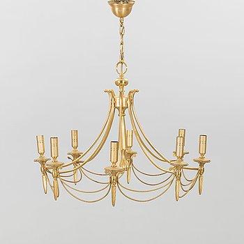Gaetano Sciolari, p patinated metal chandelier, second haöf of 20th century.
