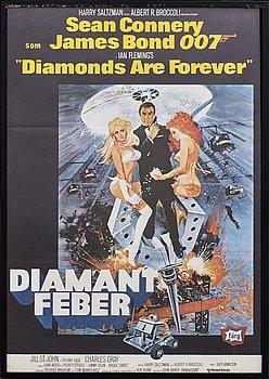 """""""DIAMANTFEBER JAMES BOND"""" filmaffisch, 1971."""